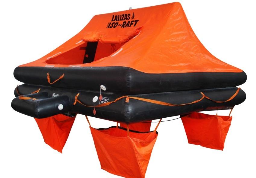 Tratwa ratunkowa LALIZAS ISO RAFT <24 h (Ocean Liferaft) w walizie- 4 os